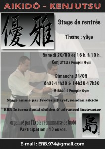 Stage aikido kenjutsu Réunion Sainte Clotilde septembre 2014
